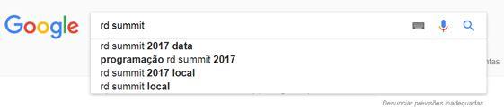 Exemplo de pesquisa no Google por RD Summit